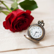 Pocket Watches and Rose — Stock Photo