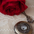 Pocket Watches and Rose — Stock Photo #14793091