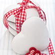Gingerbread cookies heart-shaped — Stock Photo