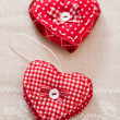 Handmade hearts for Valentines day - Stock Photo