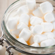 Stock Photo: Glass jar with marshmallows