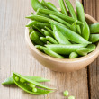 Stock Photo: Green peas in pods