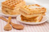 Sweet waffle — Stock Photo