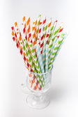 Striped cocktail stick — Stock Photo