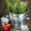 Christmas and New Year's still life — Stock Photo