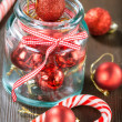 Red Christmas balls — Stock Photo