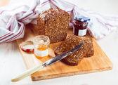 Bread wih jam — Stock Photo