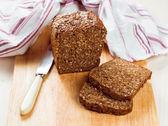 Slices of organic bread — Stock Photo