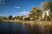 Beautiful lake in summer day — Stock Photo