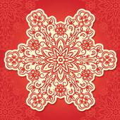 Floral traditional ornament, vector illustration — Vecteur