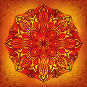 Oriental traditional ornament, vector illustration — Stock Vector