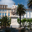 Statue of Bonaparte Napoleon on Saint Nicolas square in Bastia. Corsica, France. — Stock Photo