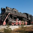 Monument of old steam locomotive. Ulan-Ude — Stock Photo #29525877