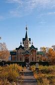 Chiesa di san nicola nei pressi della stazione di slyudyanka — Foto Stock