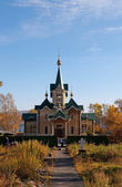 St Nicholas Church near Slyudyanka station — Stock Photo