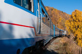 The Circum-Baikal Railway - historical railway runs along Lake baikal — Foto Stock