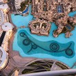 View on Dubai Fountain from the lookout Burj Khalifa. United Arab Emirates — Stock Photo