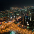 Skyscrapers in Dubai at night. View from the lookout Burj Khalifa. United Arab Emirates — Stock Photo #29653437