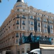 Croisette boulevard with luxury hotel InterContinental Carlton official residence for guests of Cannes film festival in Cannes — Stock Photo