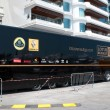 Lotus-Renault GP team truck on Formula1 Monte-Carlo track in Monaco — Stock Photo