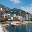 Public sandy beach and coastline in Monaco — Lizenzfreies Foto