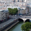 Panorama of Paris from Notre Dame. — Stock Photo