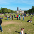 Stock Photo: Champ de Mars - large garden between Eiffel Tower and Ecole Militaire (military school)
