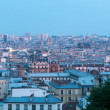 Panoramic aerial view on Paris at sunset from Sacre Coeur on Montmartre — Stock Photo #29654727