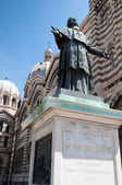 Mgr. Belsunce's statue, Cathedral La Major, Marseille. — Stockfoto
