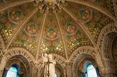 Interior of basilique Notre Dame de Fourviere, Lyon, France. — Stock Photo