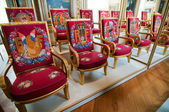 Special chairs for cabinet of ministers in Palace of Versailles — Stock Photo