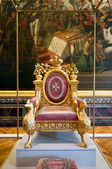 King's throne in Palace of Versailles — Foto de Stock