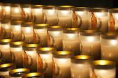 Candles in Notre-Dame de Paris — Stock Photo