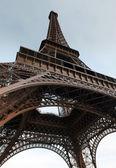 The Eiffel Tower - iron lattice tower located on the Champ de Mars in Paris. — Stock Photo