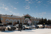 Central railroad station of Abakan — Stok fotoğraf