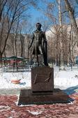 Statue of russian poet Alexander Pushkin in Abakan — Photo