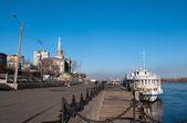 River port of Krasnoyarsk — Stock Photo