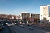 Ulice pohled krasnojarsk, jedním z největším městem sibiře — Stock fotografie