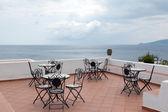 Widok z tarasu restauracji w santa marina di salina — Zdjęcie stockowe