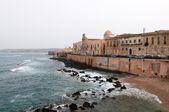 View on cape of the Ortigia island — Stock Photo