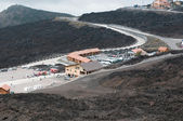 "Tourist station ""Etna Sud"" on Etna volcano — Stock Photo"