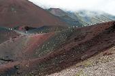 Craters Silvestri of the volcano Etna in Sicilia — Stock Photo