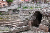 Ancient greek theater in Taormina — Stock Photo
