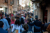 Corso Umberto - main street in old Taormina — Stock Photo