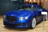 Bentley континентальной gt скорость мировая премьера — Стоковое фото