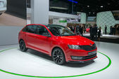 SKODA Rapid Spaceback world premiere — Stock Photo
