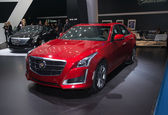 Cadillac CTS world premiere — Stock Photo
