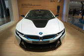BMW i8 plug-in-hybrid sportscar — Stock Photo