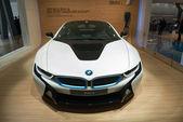 BMW i8 plug-in-hybrid sportscar — Stok fotoğraf