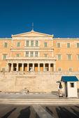 Palazzo del parlamento di grecia — Foto Stock